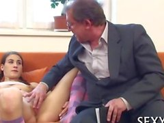 old dude gets to bang his student