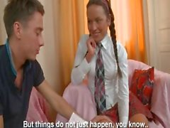 Hot lesson of shocking russian teen
