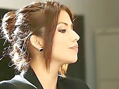 Lusty office girl Isabella De Santos enjoyed glamcore scene