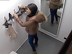 Tittare Spycam Ursnygg Tonårs Brunett Montering Underkläder