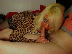 Di wendy leopardo vestito pompino