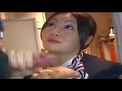 Stewardess-gives-Hot-Handjob-on-Airplane