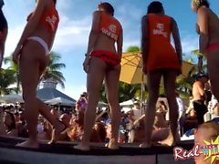 Nackte Pool Bar Party Wet Pussy Contest in Key West