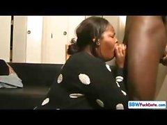 Ebenholz Mollige Frauen Throat Schlucken