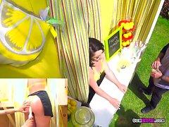 Hoe Kristina Rose Sells Lemonade While Getting Boned