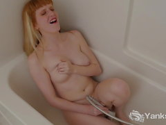 Yanks Hottie Daphne Wake Tries Her Shower Head