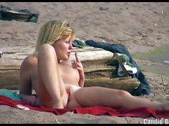 Naked Hot Nudist Ladies Spied on hidden camera Voyeur beach