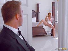 Lennox Luxe fucks on her wedding day