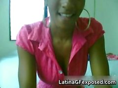 Gorgeous bigtits latina stripping on her part4