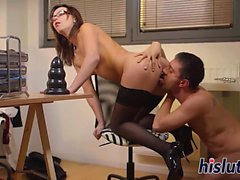 Alysa is tight butthole gets pummeled hard