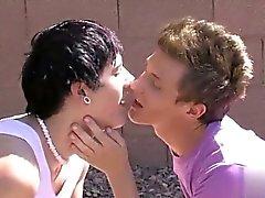 Cena gays quente Não há faísca real da namoro entre pitos