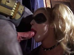 Kleio Valentien sucking and fucking in Batman Porn parody