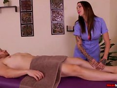 Tattooed Dominatrix Wants Poor Guy To Moan