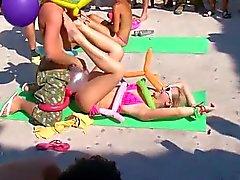 Orgie op het strand