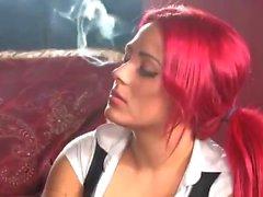 Smoking Red Head