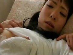 Beautiful Asian schoolgirl has a nerdy guy kissing her love