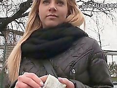 Amateur Cherie ripped in public toilet