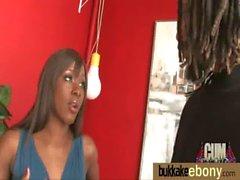 Ebony gets group cumshots 16