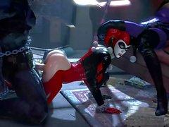 Harley Quinn dominates Batman