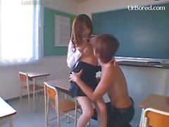 Beauty boobs teacher drilled by student 01