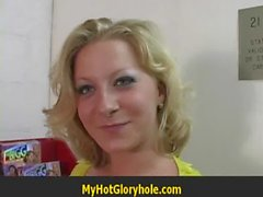 Hot Girl Blows A Stranger In A Bathroom Gloryhole 30