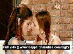 Le lesbiche spendida rossa kisising e leccare figa e che hanno lesbico