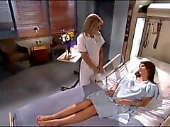 Stygg sjuksköterska och patient Ha kul