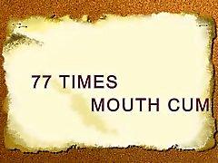В 77 раз рот сперму