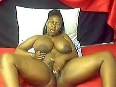 Busty Ebony Webcam 3
