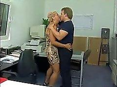 Duitse Oudere Office anale seks