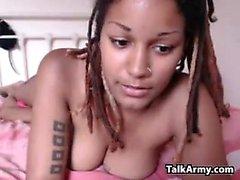 Dirty Ebony Chick With Dreadlocks