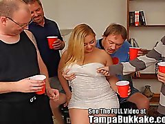 Sweet & Sexy Hollie GetsTampa Bukkake Gang Bang !