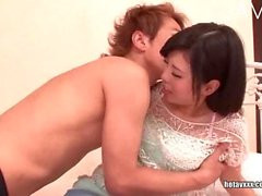 Japanese teenie gets her pussy licked