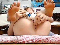 Webcam Mädchen Stuffs Ihre Löcher