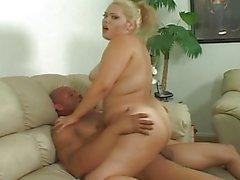 chubby blonde latina fucks with black man