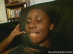 Short hair HUGE booty ebony gives excellent slow erotic BJ before gettin pounded