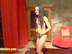 Gypsy teen rides on big cock at CASTING