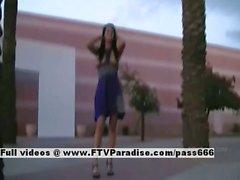 Victoria ingenious brunette riding dildo