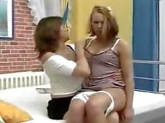 Mom Teaching Lesbian Sex to Not Her Daughter