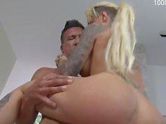 Cute pornstar anal cum swap