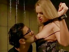 Cute blonde gets bondaged and fucked
