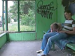 Nosso a primeira relação sexual na de jardim estação de ônibus