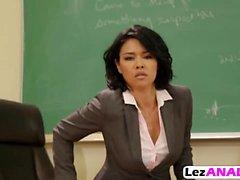 Hot Teacher Toys Blonde Schoolgirl's Ass