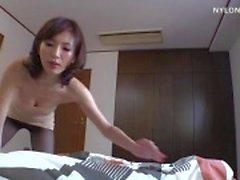 mulher magra meia-calça de nylon sexo boquete