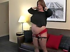 Maria Moore is big and pregnant