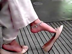 candid indian dangling toe wiggle