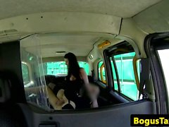 Public taxi goth getting pounded doggystyle