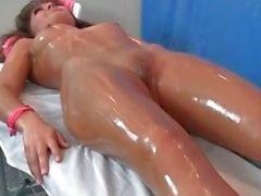 Sexy brunette babe gets sensual massage part6