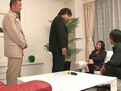 Japanese college stunner vibing pussy for horny teachers