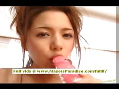 Tina Yuzuki asian babe masturbating using dildos
